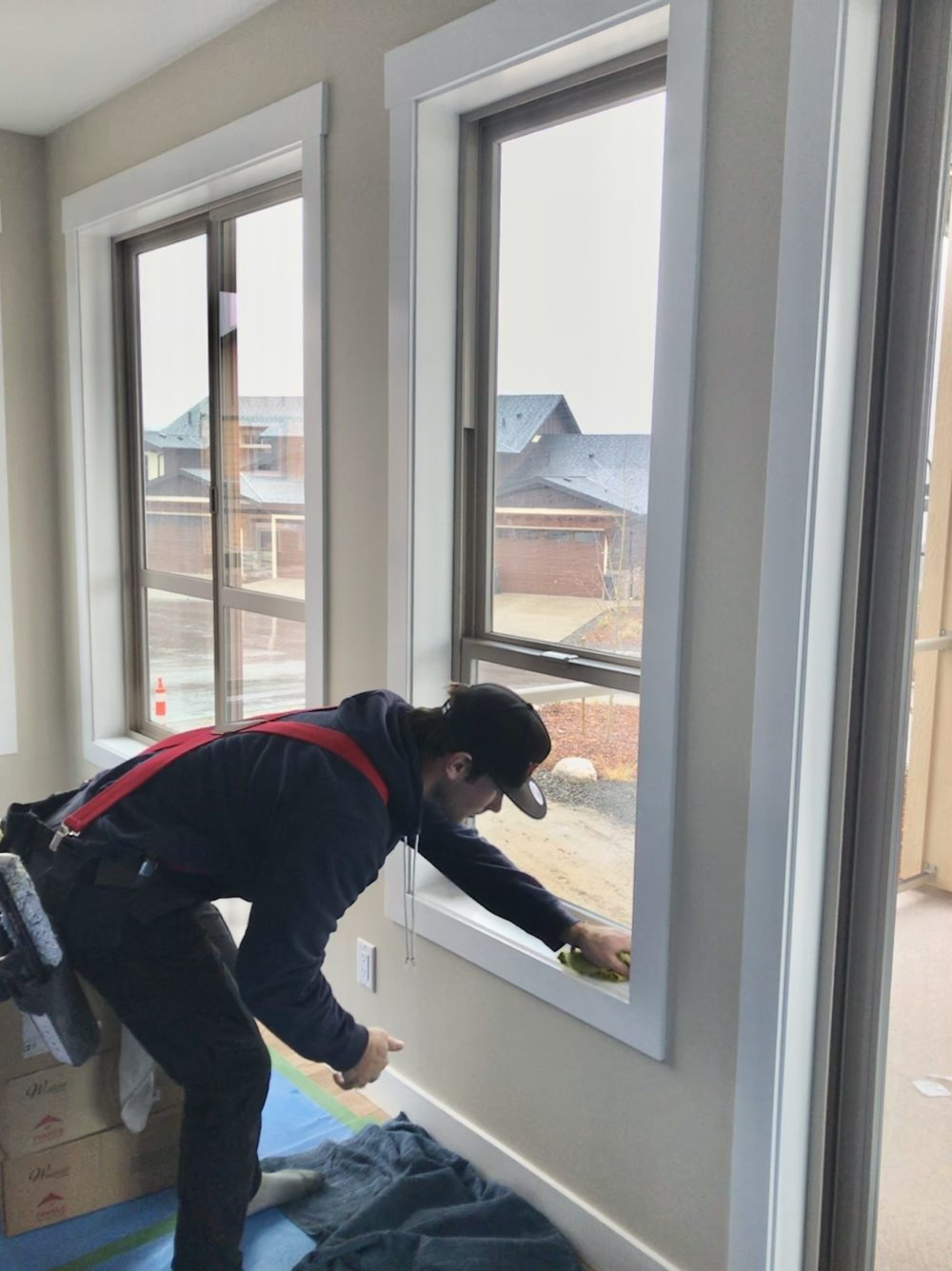 Views Window Cleaning guarantees not only clean windows but also clean frames